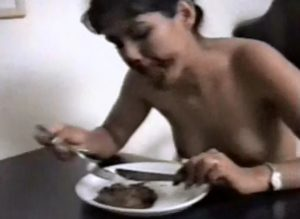 Two lesbians in shit eating and foot fetish video