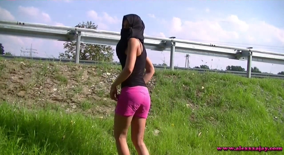 Alexa Jay – At the highway-1