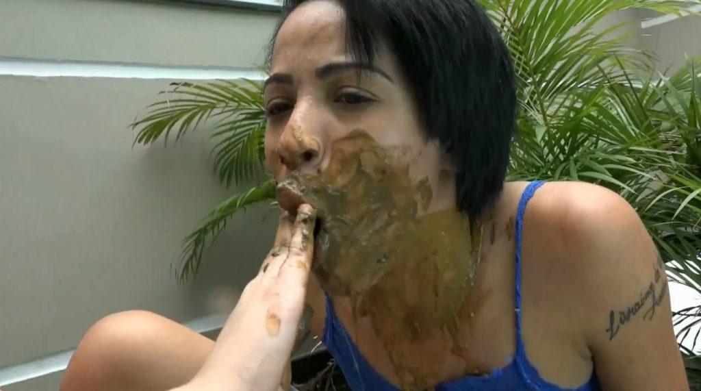 Feet scat lesbians domination. Goddess scat control to slavegirl. (HD 1080p) - 5