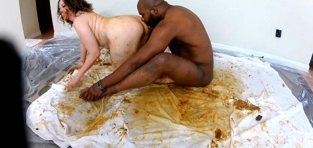 Scat Goddess Amanda - shitting on black dick and masturbates dirty pussy - 1
