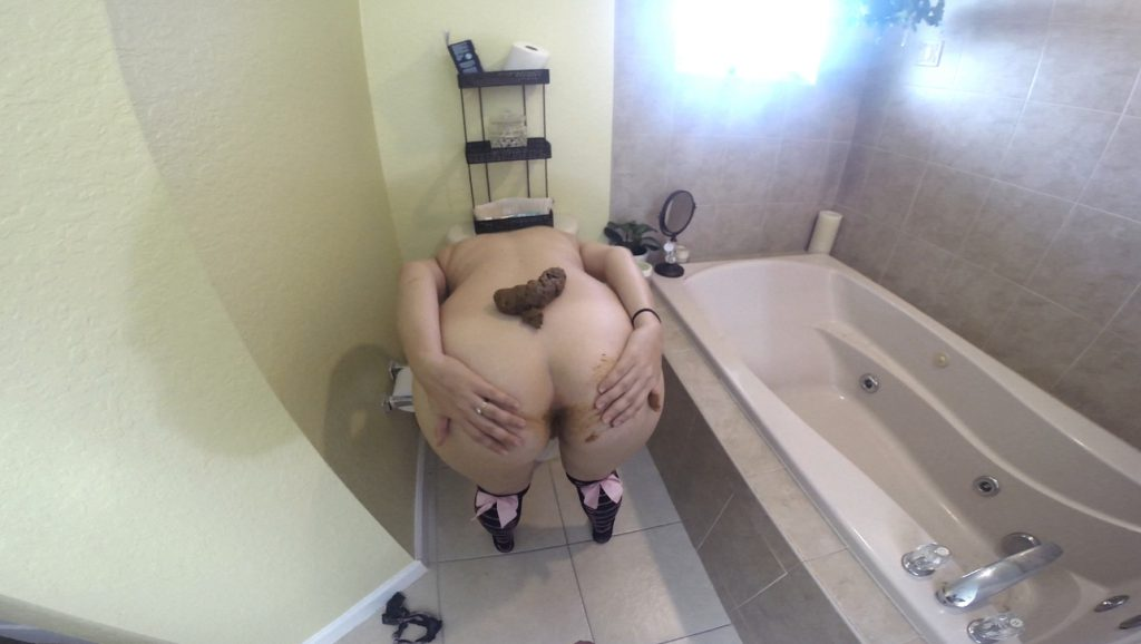 Bent Over Toilet Shit Fuck - HotScatWife 6