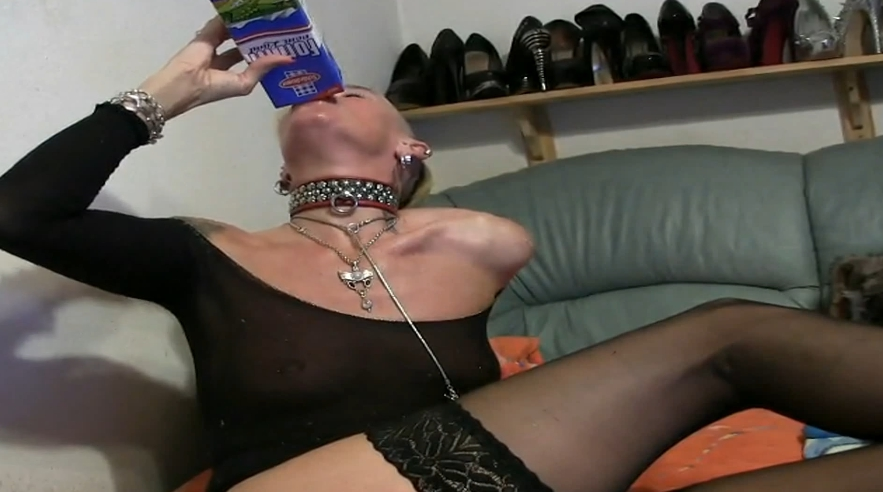 Drinking milk then and puking all over her face - Special FHD Porn (1080p)-2