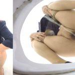 Japanese lady defecating in office toilet - FULL HD 1080p