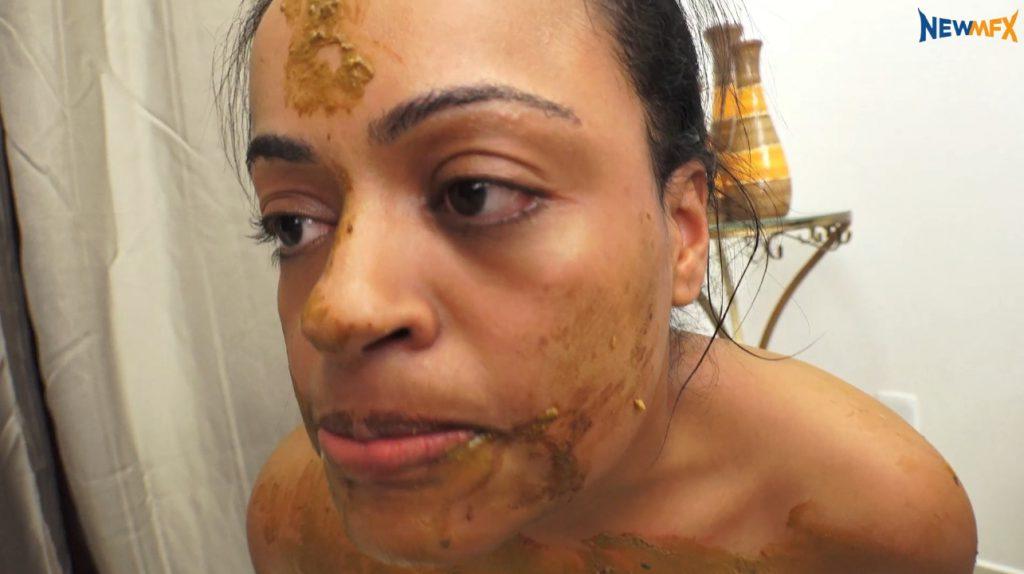 Lezdom - scat goddess forced slavegirl swallows feces (FULL HD 1080p) 7