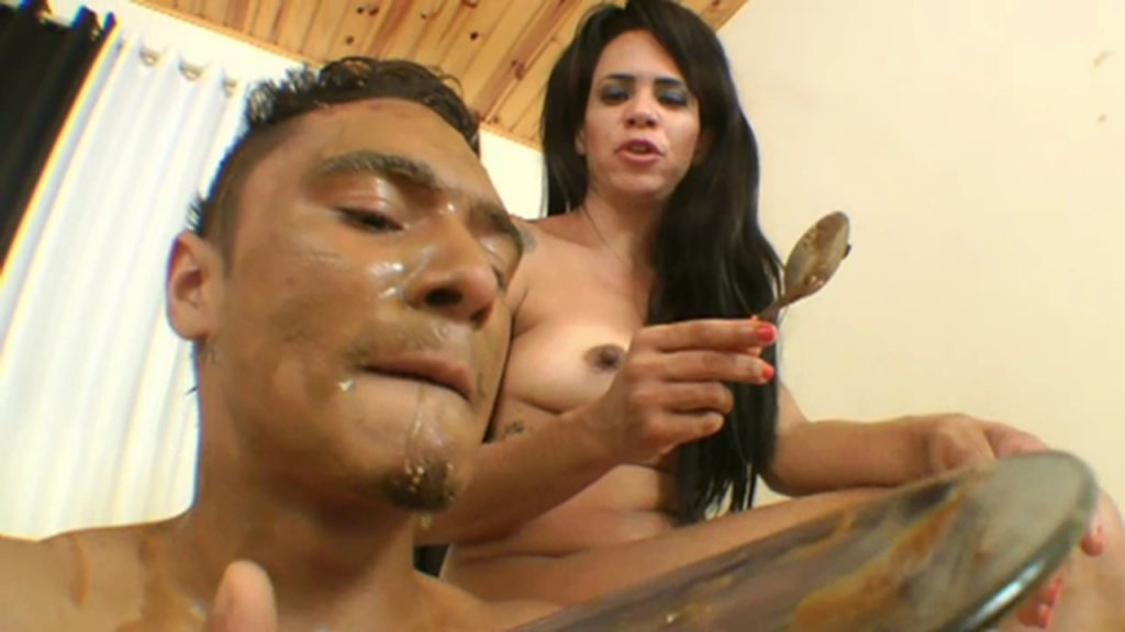 Scat Boy Real Swallow - By Muscle Girl (Maynna Lima and scat slave Zica) 3