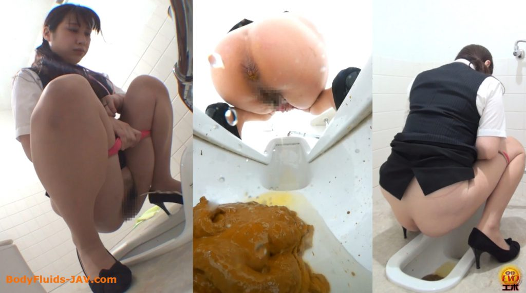 Sexy ladies pooping in public toilet room - FULL HD 1080p 2