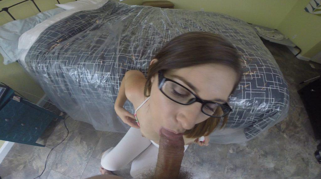 White Spandex Thong Anal Shit Fucking - HotScatWife - 2