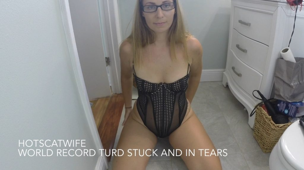 HotScatWife - World Record Turd Stuck And In Tears (Full HD-1080p)-1