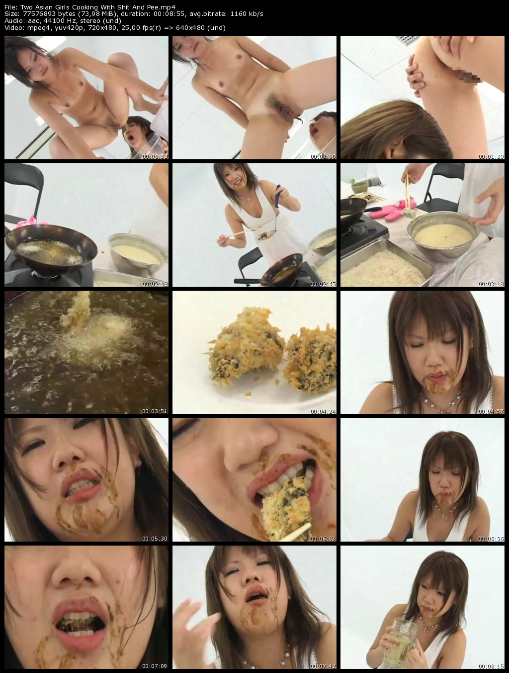 Two Asian Girls Cooking With Shit And Pee - Lesbo Scat Action