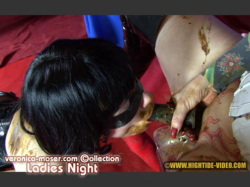 Veronica Moser - LADIES NIGHT (Lesbian Scat Sex, latex, shit smearing) Screenshot - 7