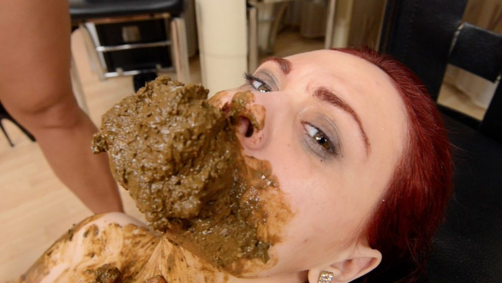 Scat Domination - Xtra Big Scat Direct Into Mouth - Top Girls Niki And Roxana 4