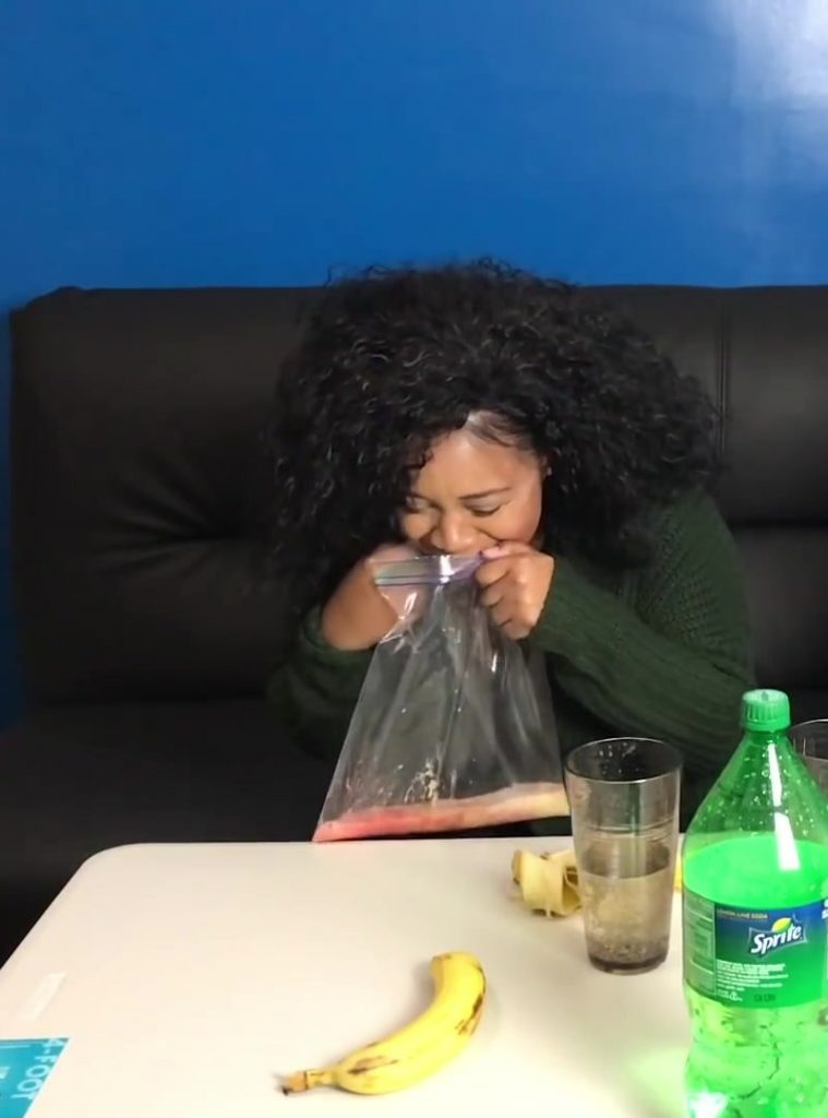 Banana Sprite Challenge - Girlfriend Vomits Crazy ! GROSS (FullHD-1080p) Pic 1