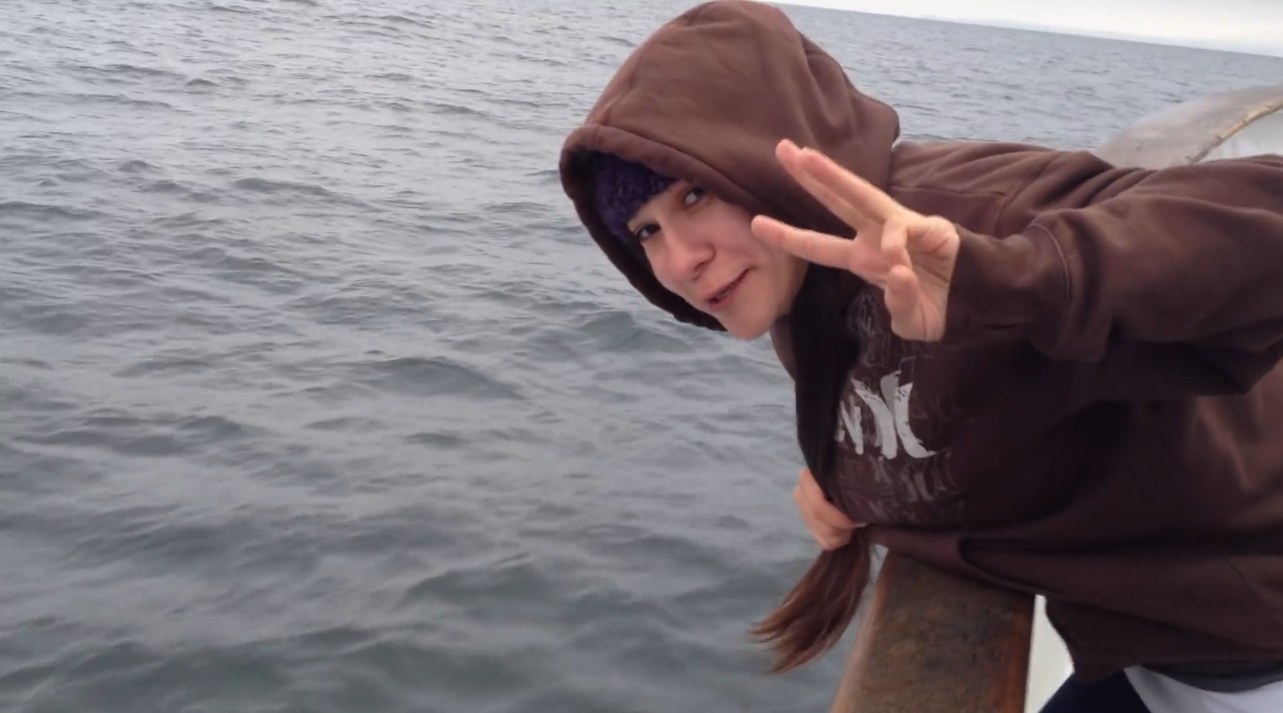 Brittany Throwing up on a fishing boat