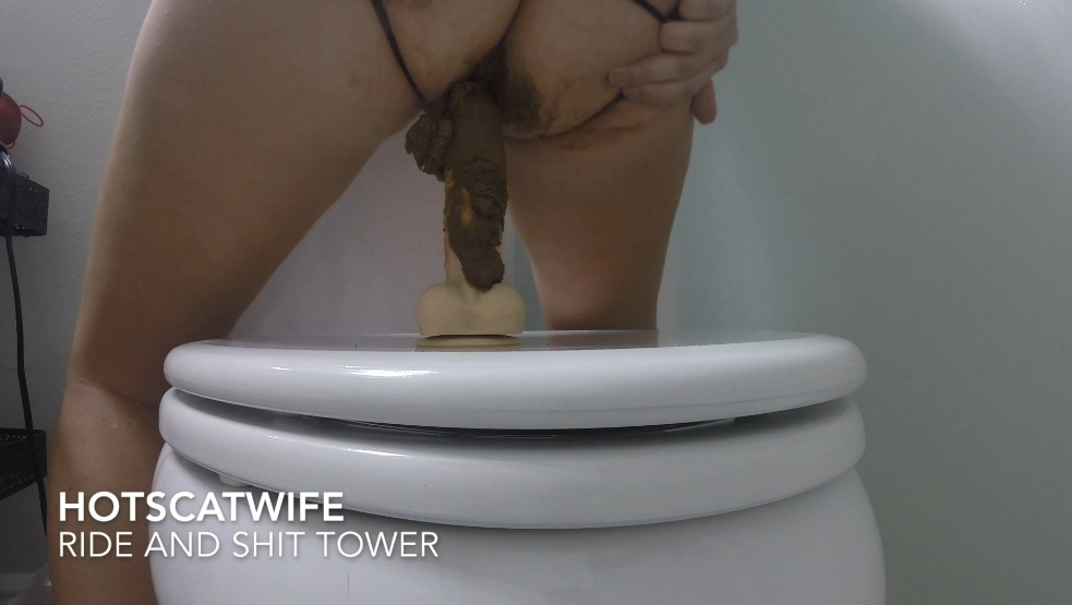 HOT SCAT WIFE in RIDE and SHIT TOWER - pic 2