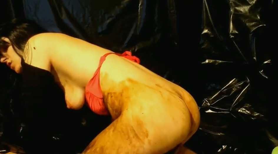 Black haired young girl masturbating with lot of poop - Image 2