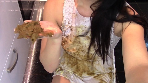 Desperation In Interview Poo Smeared Dress (Cool Enema - FHD 1080p) Image 4