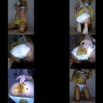 MissAnja - Filthy Schoolgirl Poop in Her White Panty and Make Big Mess with Poo Smearing (1080p)