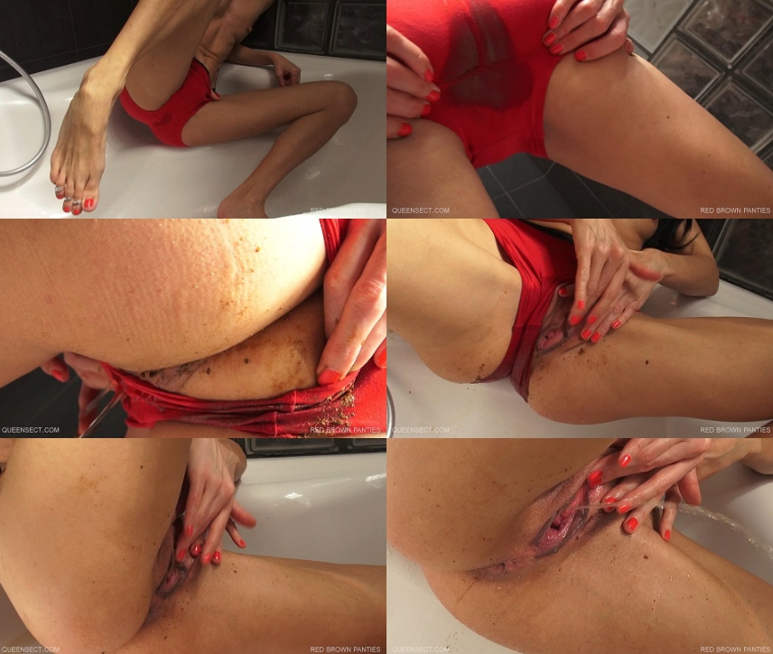 Queensect - Red Brown Panties