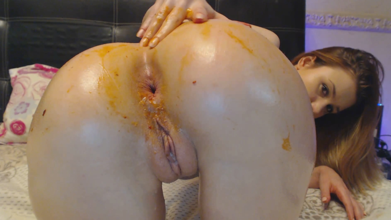 DirtyLena – Dirty Anal with black toy 3 - Professional Scat Porn