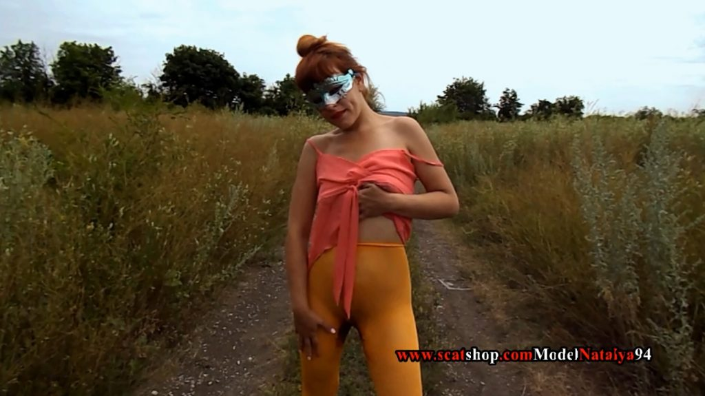 A walk in colored pantyhose on the nature (ModelNatalya94) Image 2