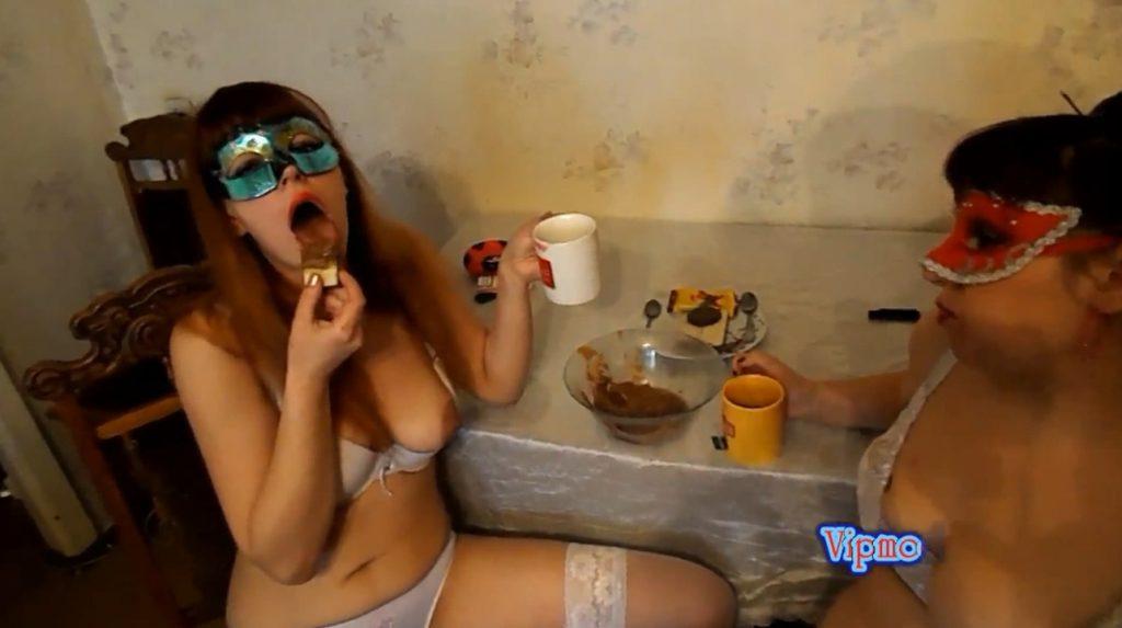 Yana and Olga drink tea with cream shit (ModelNatalya94) Image 3