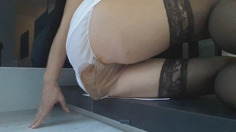 Goddess sits panty shit (Thefartbabes ) Image 2