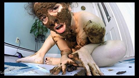 Stinky SHIT Mask! Eating, Smearing & Cumming [Love Rachelle]